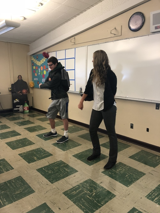 Our first day of school would not be complete without a friendly teacher student dance off.